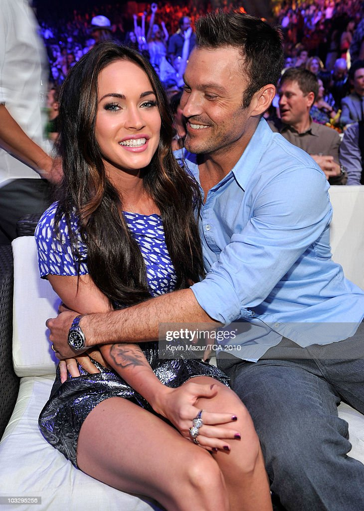 Actress Megan Fox and actor Brian Austin Green attend the 2010 Teen Choice Awards at Gibson Amphitheatre on August 8, 2010 in Universal City, California.