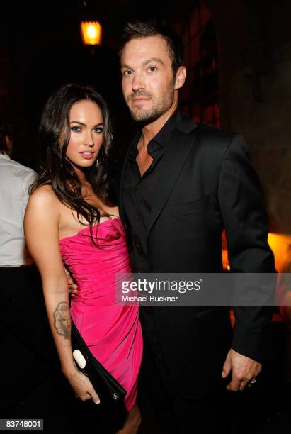 ACCESS*** Actress Megan Fox and actor Brian Austin Green attend the GQ Men of the Year party held at the Chateau Marmont Hotel on November 18 2008 in...