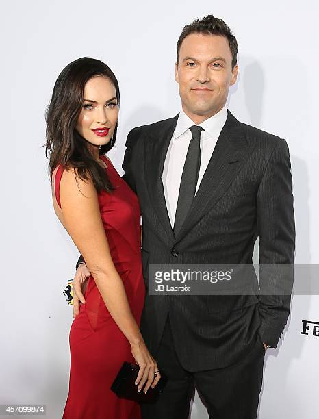 Actress Megan Fox and Brian Austin Green attend Ferrari's 60th Anniversary in the USA Gala at the Wallis Annenberg Center for the Performing Arts on...