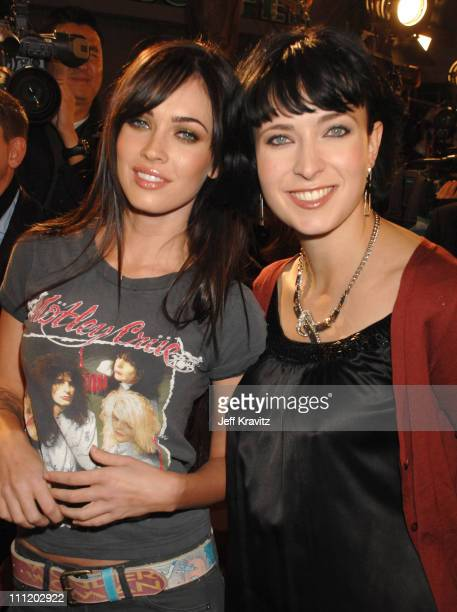 Actress Megan Fox and screenwriter Diablo Cody at the premiere of Fox Searchlight's Juno at the Village Theater on December 3 2007 in Westwood...