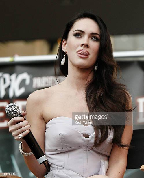 Actress Megan Fox appears at the 'Jennifer's Body' Hot Topic Fan Event at Hollywood and Highland on September 16 2009 in Los Angeles California