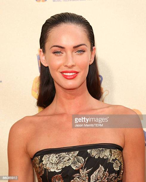 Actress Megan Fox arrives at the 18th Annual MTV Movie Awards held at the Gibson Amphitheatre on May 31 2009 in Universal City California
