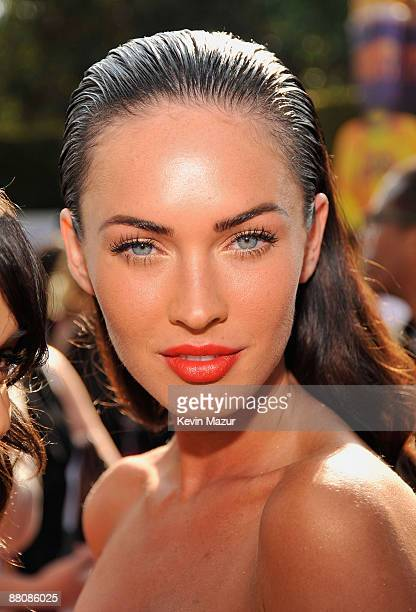 Actress Megan Fox arrives at the 2009 MTV Movie Awards held at the Gibson Amphitheatre on May 31 2009 in Universal City California