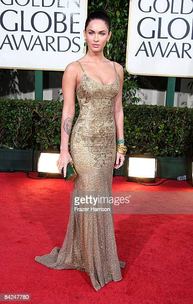 Actress Megan Fox arrives at the 66th Annual Golden Globe Awards held at the Beverly Hilton Hotel on January 11 2009 in Beverly Hills California