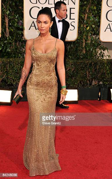 cb8b8cf41 Actress Megan Fox arrives at the 66th Annual Golden Globe Awards held at  the Beverly Hilton