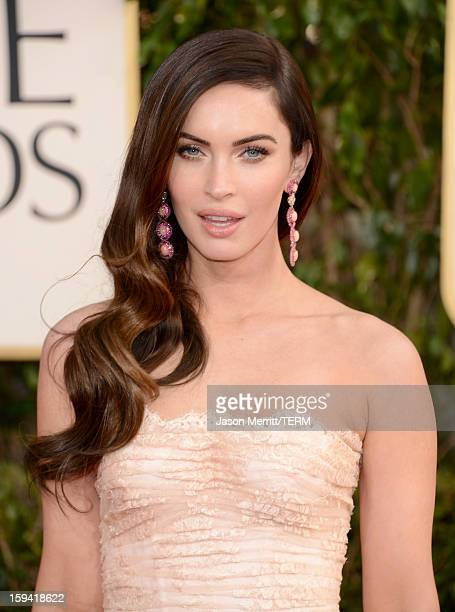 Actress Megan Fox arrives at the 70th Annual Golden Globe Awards held at The Beverly Hilton Hotel on January 13 2013 in Beverly Hills California