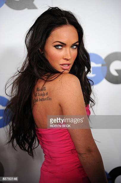 Actress Megan Fox arrives at the GQ Men of the Year party at the Chateau Marmont Hotel on November 18, 2008 in Los Angeles, California. AFP PHOTO /...