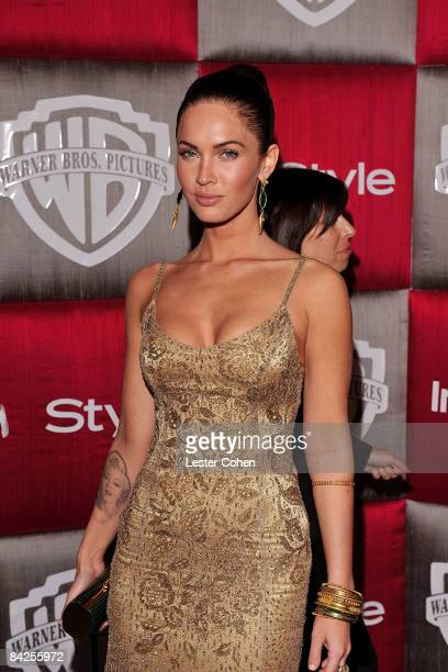 Actress Megan Fox arrives at the InStyle/Warner Bros after party for the 66th Annual Golden Globe Awards held at the Beverly Hilton Hotel on January...