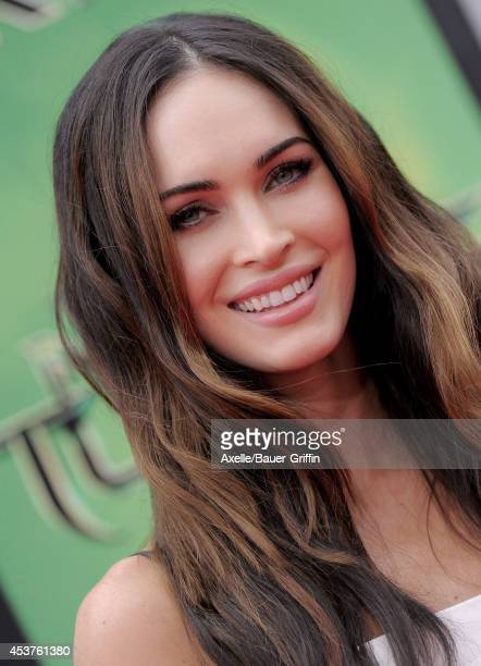 Actress Megan Fox arrives at the Los Angeles Premiere of 'Teenage Mutant Ninja Turtles' at Regency Village Theatre on August 3 2014 in Westwood...