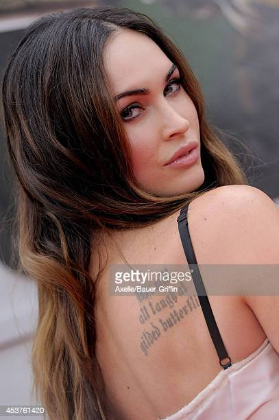 Actress Megan Fox arrives at the Los Angeles Premiere of 'Teenage Mutant Ninja Turtles' at Regency Village Theatre on August 3, 2014 in Westwood,...