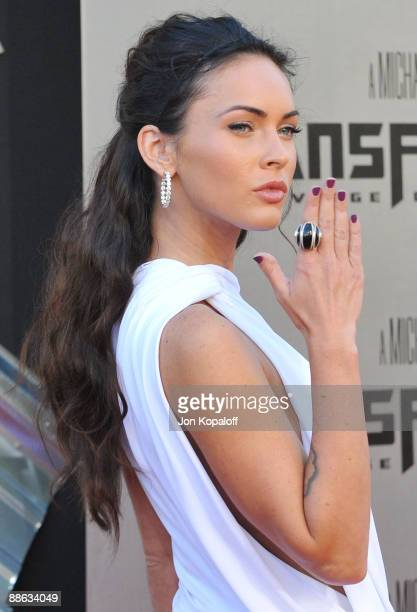 Actress Megan Fox arrives at the Los Angeles Premiere Transformers Revenge of the Fallen at Mann Village Theatre on June 22 2009 in Westwood Los...