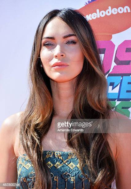 Actress Megan Fox arrives at the Nickelodeon Kids' Choice Sports Awards 2014 on July 17 2014 in Los Angeles California