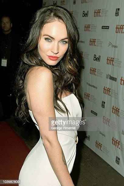 Actress Megan Fox arrives at the Passion Play Premiere held at Ryerson Theatre during the 35th Toronto International Film Festival on September 10...