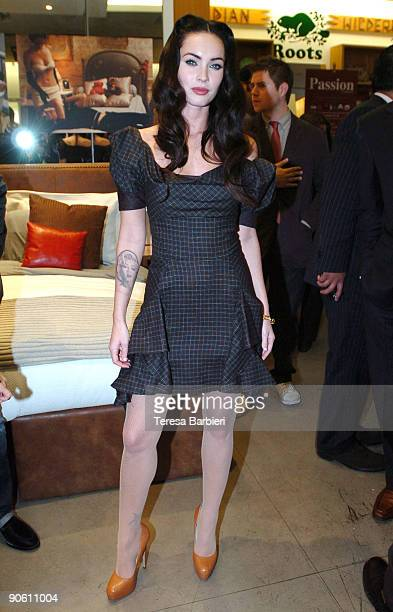 Actress Megan Fox arrives at the Sierra Pictures ICM And Creative Coalition's Party held at Roots on September 11 2009 in Toronto Canada