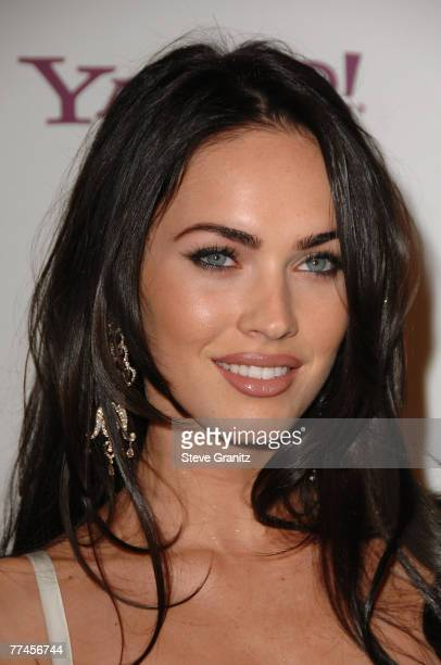 Actress Megan Fox arrives to Hollywood Film Festival's Hollywood Awards at the Beverly Hilton Hotel on October 22 2007 in Beverly Hills California