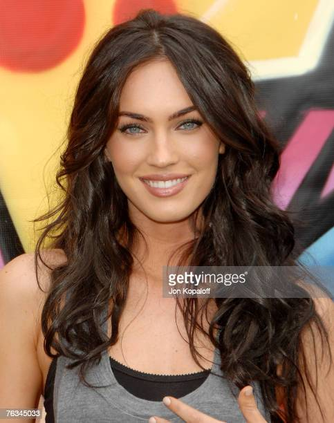 Actress Megan Fox arrives to the 2007 Teen Choice Awards at the Gibson Amphitheater on August 26 2007 in Universal City California