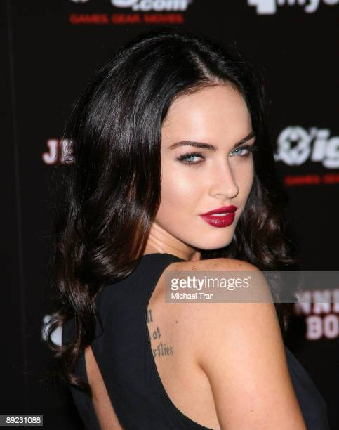 Actress Megan Fox arrives to the 'Jennifer's Body' ComicCon party hosted by myspace and IGN held at the Manchester Grand Hyatt on July 23 2009 in San...