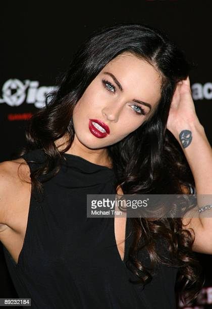 "Actress Megan Fox arrives to the ""Jennifer's Body"" Comic-Con party hosted by myspace and IGN held at the Manchester Grand Hyatt on July 23, 2009 in..."