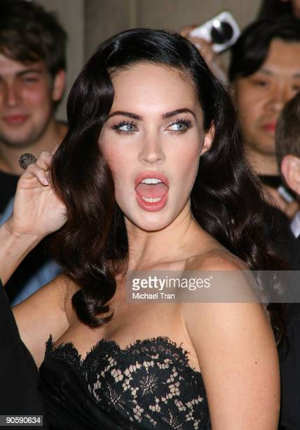 "Actress Megan Fox arrives to the ""Jennifer's Body"" premiere during the 2009 Toronto International Film Festival held at the Ryerson Theatre on..."