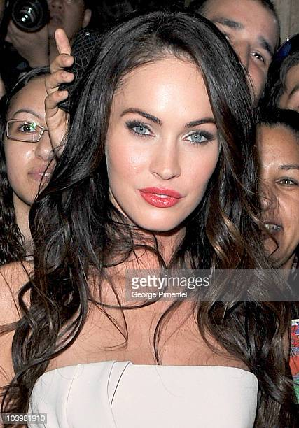 Actress Megan Fox arrives to the 'Passion Play' Premiere held at the Ryerson Theatre during the 35th Toronto International Film Festival on September...
