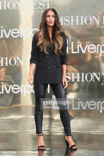 Actress Megan Fox attends a press conference during the Liverpool Fashion Fest Autumn/Winter 2017 at Liverpool Insurgentes on September 6 2017 in...
