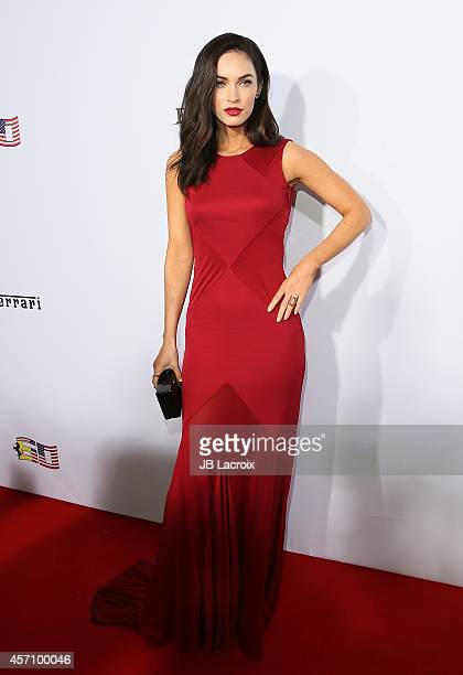 Actress Megan Fox attends Ferrari's 60th Anniversary in the USA Gala at the Wallis Annenberg Center for the Performing Arts on October 11 2014 in...