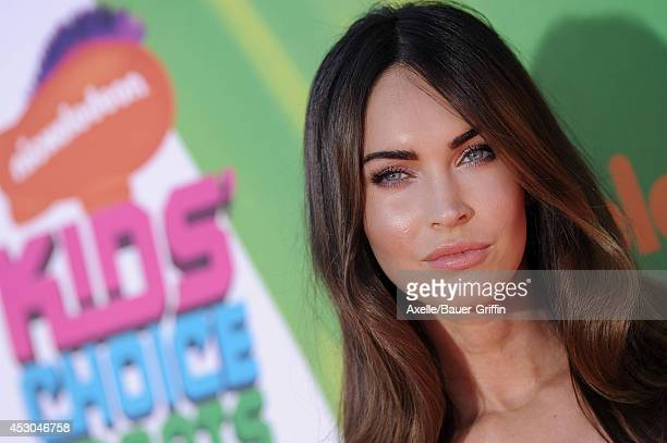 Actress Megan Fox attends Nickelodeon Kids' Choice Sports Awards 2014 at UCLA's Pauley Pavilion on July 17 2014 in Los Angeles California