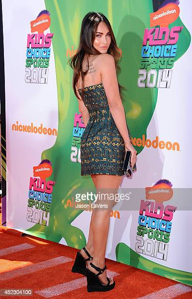 Actress Megan Fox attends the 2014 Nickelodeon Kids' Choice Sports Awards at Pauley Pavilion on July 17 2014 in Los Angeles California