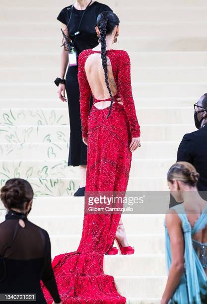 Actress Megan Fox attends The 2021 Met Gala Celebrating In America: A Lexicon Of Fashion at The Metropolitan Museum of Art on September 13, 2021 in...