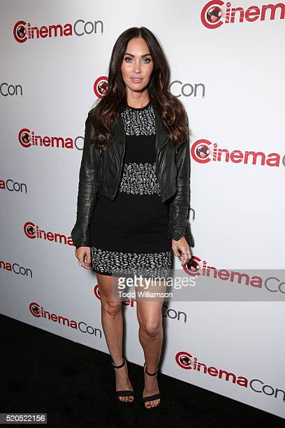 Actress Megan Fox attends the CinemaCon 2016 Gala Opening Night Event: Paramount Pictures Highlights its 2016 Summer and Beyond Films at The...