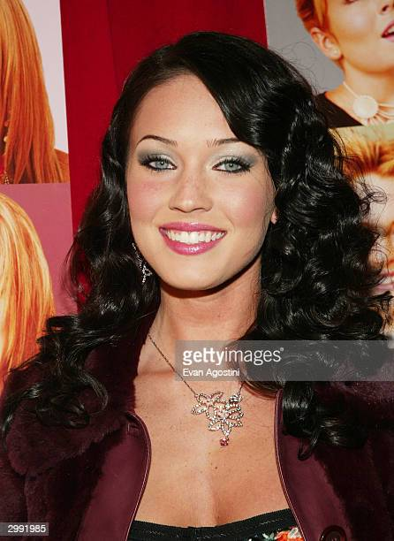 Actress Megan Fox attends the 'Confessions Of A Teenage Drama Queen' premiere at the Loews EWalk Theater February 17 2004 in New York City