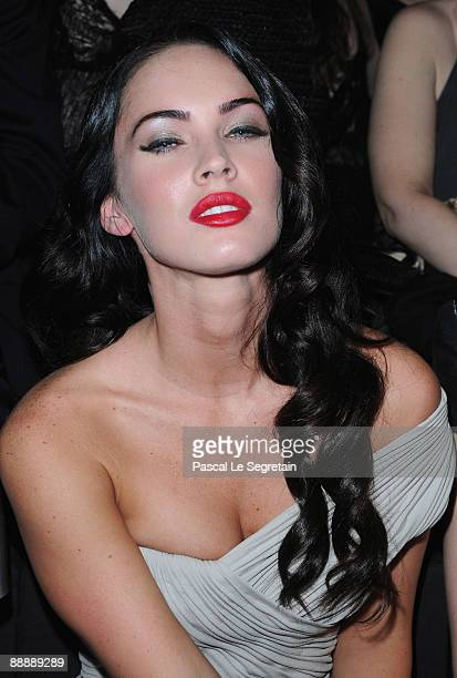 Actress Megan Fox attends the Giorgio Armani Haute Couture A/W 2010 fashion Show at Palais de Chaillot on July 7 2009 in Paris France
