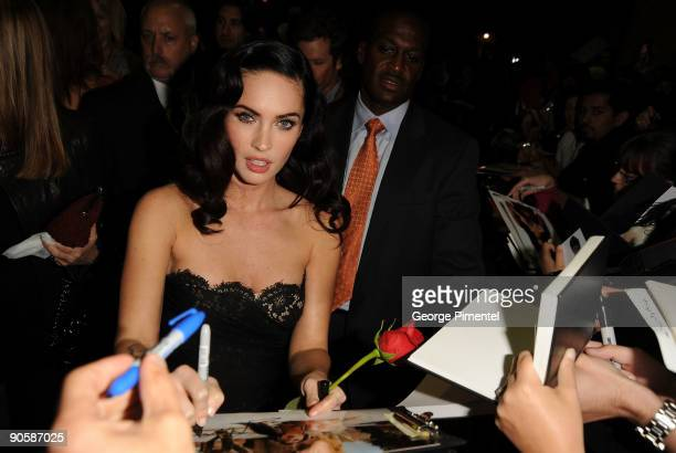 Actress Megan Fox attends the Jennifer's Body premiere at the Ryerson Theatre during the 2009 Toronto International Film Festival on September 10...