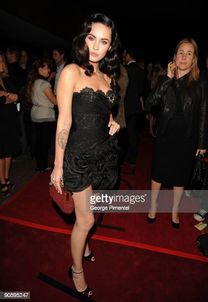 "Actress Megan Fox attends the ""Jennifer's Body"" premiere at the Ryerson Theatre during the 2009 Toronto International Film Festival on September 10,..."