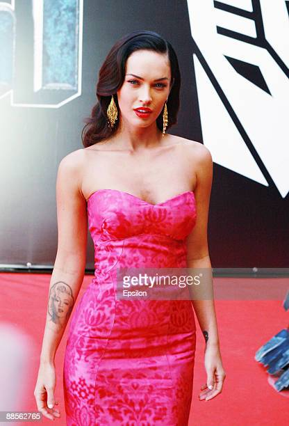 Actress Megan Fox attends the Moscow premiere of Transformers Revenge Of The Fallen at the October cinema on June 17 2009 in Moscow Russia
