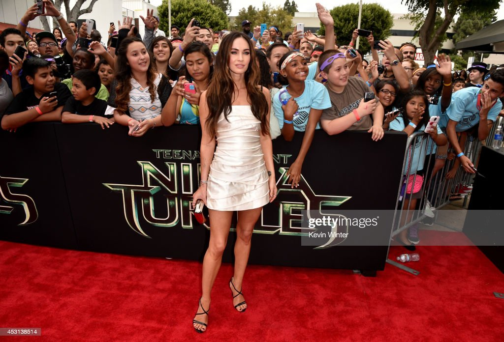 Actress Megan Fox attends the premiere of Paramount Pictures' 'Teenage Mutant Ninja Turtles' at Regency Village Theater on August 3, 2014 in Westwood, California.
