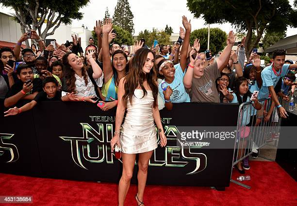 Actress Megan Fox attends the premiere of Paramount Pictures' Teenage Mutant Ninja Turtles at Regency Village Theater on August 3 2014 in Westwood...