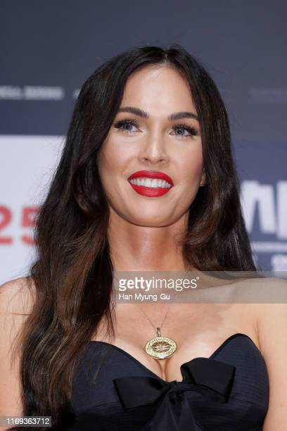 Actress Megan Fox attends the press conference for 'Battle Of Jangsari' on August 21, 2019 in Seoul, South Korea. The film will open on September 25...