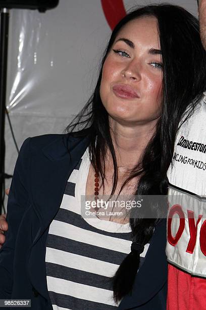 Actress Megan Fox attends the Toyota Grand Prix Pro / Celebrity Race Day on April 17 2010 in Long Beach California