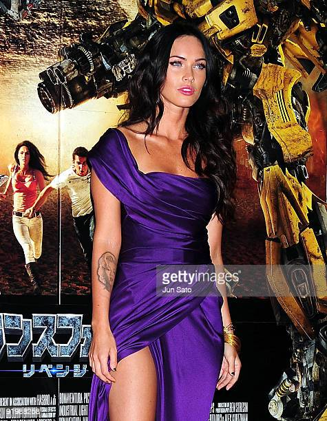 Actress Megan Fox attends the 'Transformers Revenge of the Fallen' World Premiere at Roppongi Hills on June 8 2009 in Tokyo Japan The film will open...