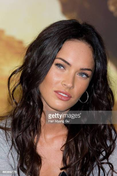 Actress Megan Fox attends 'Transformers Revenge of the Fallen' press conference at Kring on June 10 2009 in Seoul South Korea The film will open on...