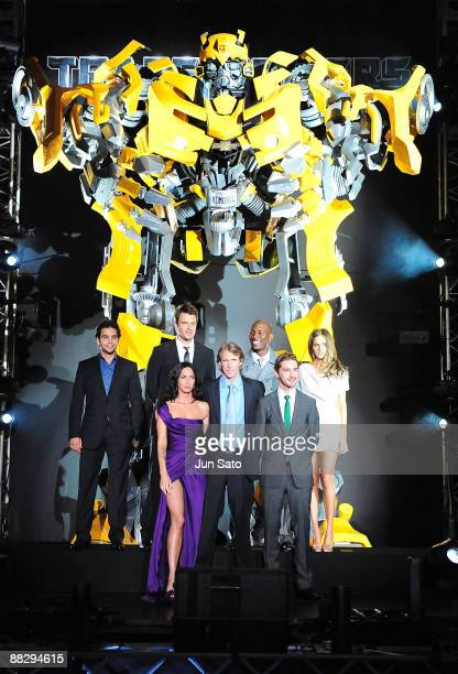 Actress Megan Fox director Michael Bay actor Shia LaBeouf actors Ramon Rodriguez Josh DuhamelTyrese Gibson and Isabel Lucas attend the Transformers...