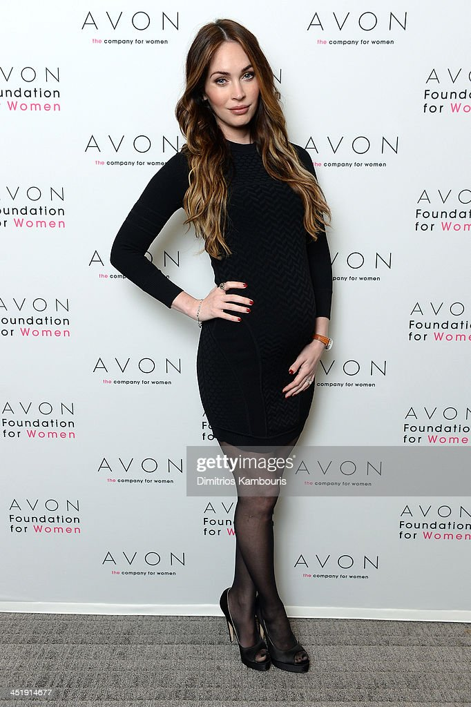 Actress Megan Fox in New York City where she helped the Avon Foundation launch the #SeeTheSigns of Domestic Violence global social media campaign.