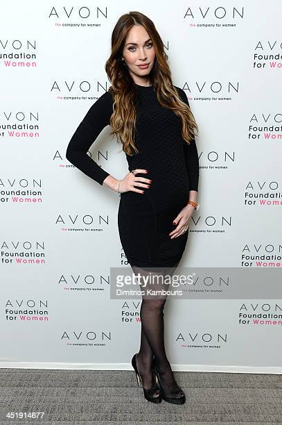 Actress Megan Fox in New York City where she helped the Avon Foundation launch the #SeeTheSigns of Domestic Violence global social media campaign