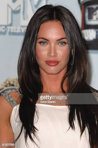 Actress Megan Fox in the press room at the 2008 MTV Movie Awards on June 1 2008 at the Gibson Amphitheatre in Universal City California