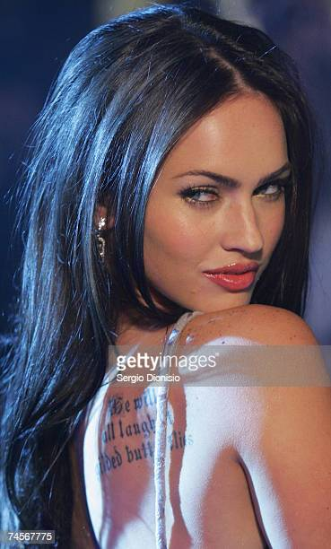 "Actress Megan Fox of the US attends the special event celebrity screening of the new film ""Transformers"" at Hoyts Entertainment Quarter, Moore Park..."