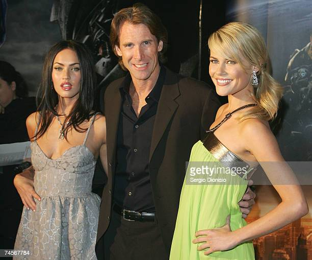 Actress Megan Fox of the US Director Michael Bay and Australian actress Rachael Taylor attends the special event celebrity screening of the new film...