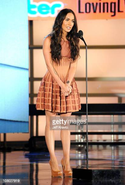 Actress Megan Fox onstage at the 2010 VH1 Do Something! Awards held at the Hollywood Palladium on July 19, 2010 in Hollywood, California.