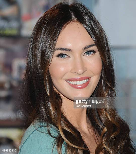 Actress Megan Fox poses at FOX's 'New Girl' 100th Episode CakeCutting at Fox Studio Lot on December 2 2015 in Century City California