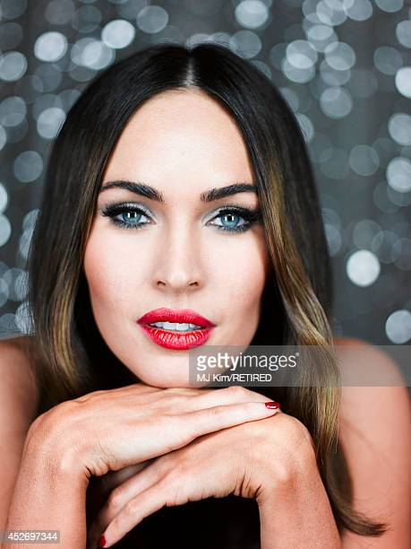 Actress Megan Fox poses for a portrait at the Getty Images Portrait Studio powered by Samsung Galaxy at ComicCon International 2014 at Hard Rock...